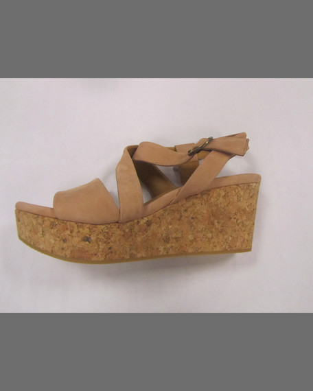 Mel Strappy Cork Wedge Sandal, Natural