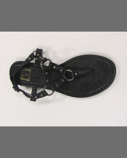 Frye Carson Rivet Leather Thong Sandal, Black