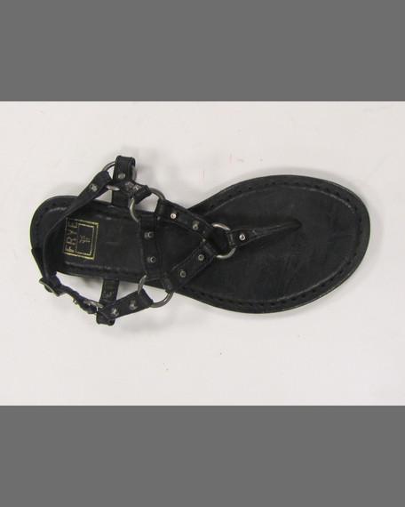Frye Carson Rivet Leather Thong Sandal Black