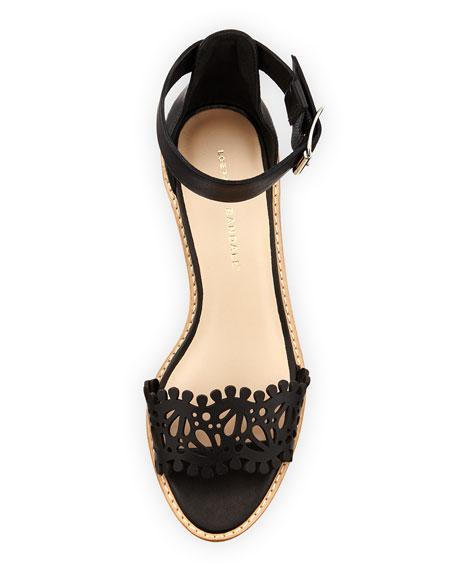Hopie Leather City Sandal, Black