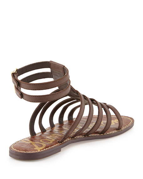 8ab35a004871 Sam Edelman Gilda Flat Leather Gladiator Sandal