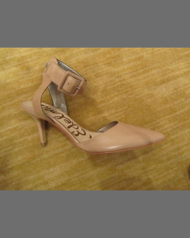 8179f6c6f Sam Edelman Okala Pointy Ankle-Wrap Pump, Nude   Neiman Marcus