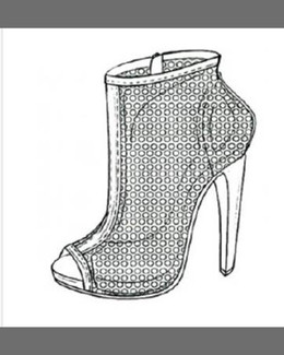Pedro Garcia Sylvana Perforated Peep-Toe Bootie