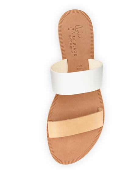 Sable Two-Tone Slide Sandal