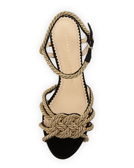 It's Knot You, It's Me Rope Trimmed Ankle-Wrap Sandal