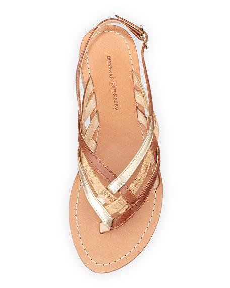 Carley Woven Flat Thong Sandal