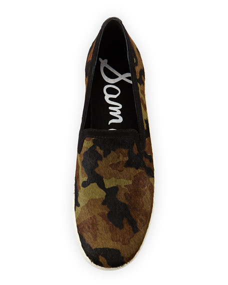 Becker Camouflage Calf Hair Slip-On, Olive