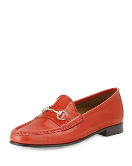Gucci 1953 Horsebit Leather Loafer, Orange