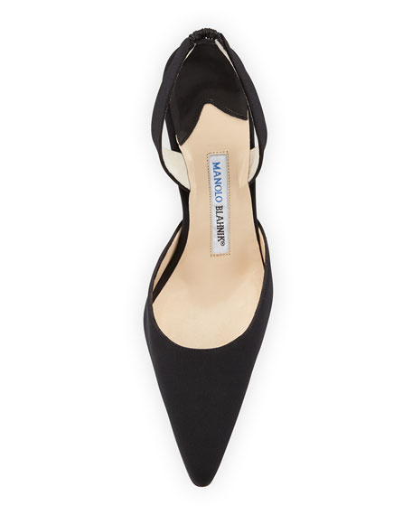 Carolyne Suede High-Heel Halter Pump, Black