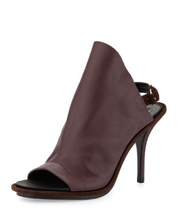 Balenciaga Leather Glove Sandal, Wine