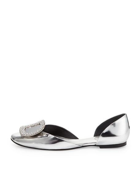 Chips Metallic Ballerina Flat, Silver