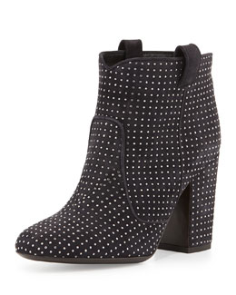 Laurence Dacade Pete Studded Suede Ankle Boot, Dark Gray