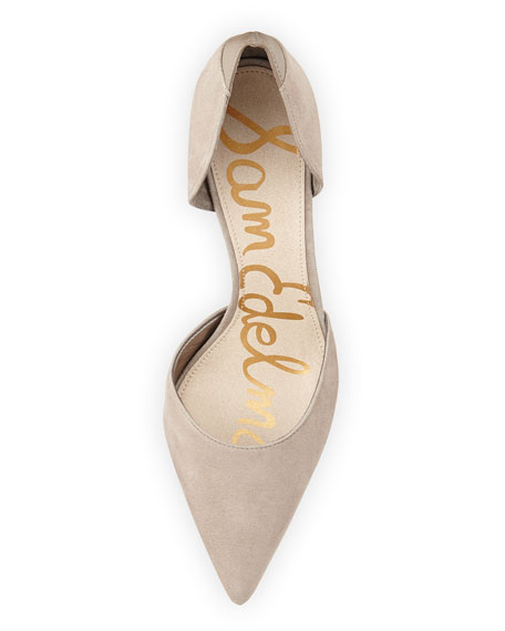 Deliah Suede d'Orsay Pump, Light Gray