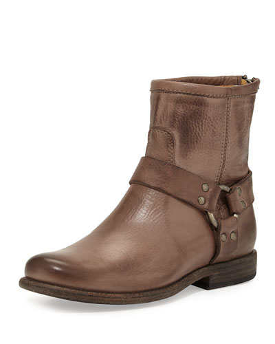 Frye Philippe Harness Short Boot, Gray