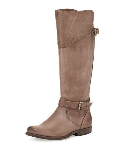 Frye Phillip Leather Riding Boot, Gray