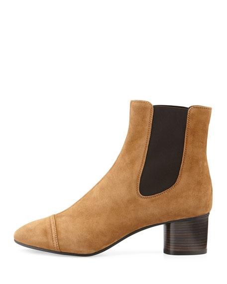Danae Suede 50mm Chelsea Boot, Brown