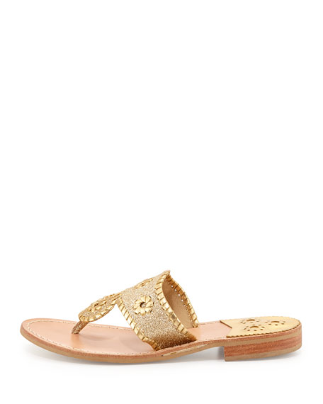Sparkle Thong Sandal, Gold