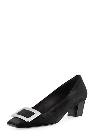 Roger Vivier Decollete Belle 45mm Suede Pump