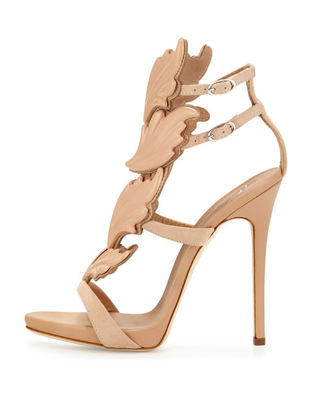 Wings Suede High-Heel Sandals, Fondotina