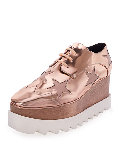 Stella McCartney Elyse Star Platform Oxford, Copper/Tea Rose