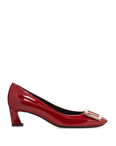 Trompette Patent 45mm Pumps, Red