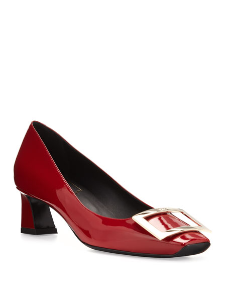 Roger Vivier Trompette Patent 45mm Pumps, Red