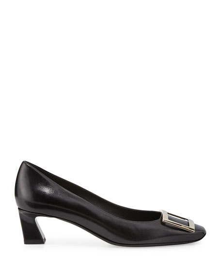 Trompette Leather 45mm Pump, Black