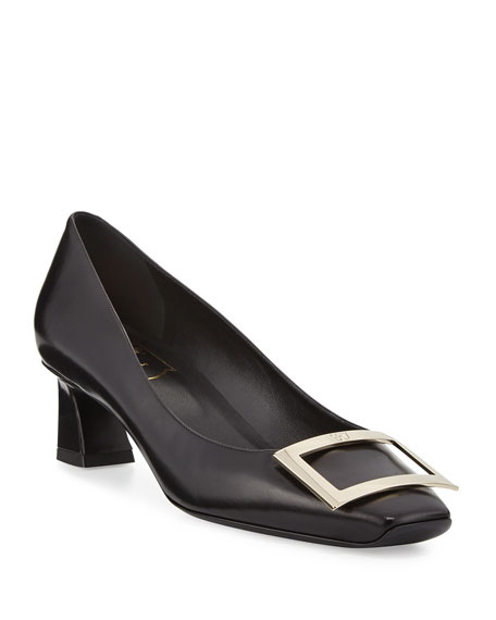 Roger Vivier Trompette Leather 45mm Pump, Black