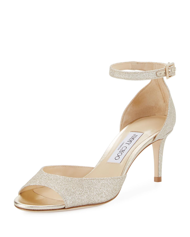 5654f97df6c4 Jimmy Choo Annie Glitter 65mm Sandal