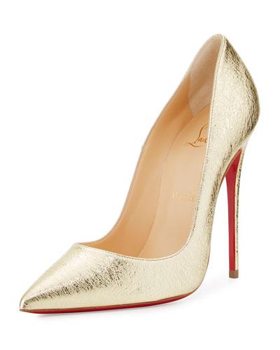 christian louboutin shoes gold