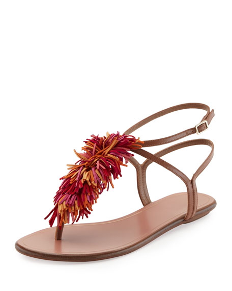 Aquazzura Embellished Thong Sandals