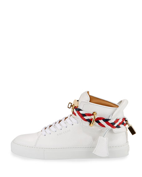 Women's 100mm Turn-Lock Braided High-Top Sneaker
