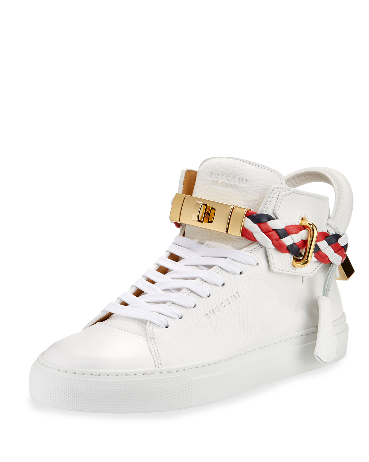 BUSCEMI Women's Ankle Strap High Top Sneaker