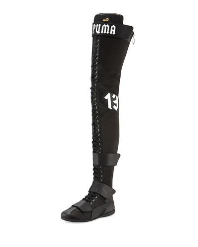 Eskiva Over-the-Knee Boxing Boot, Black