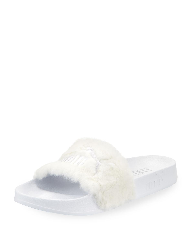 bfb4f3a8b9b4 Fenty Puma by Rihanna Leadcat Fenty Faux-Fur Slide Sandal