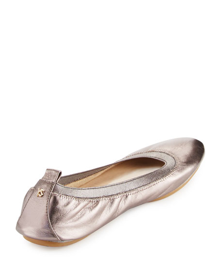 Samara 2.0 Packable Ballerina Flat, Pewter