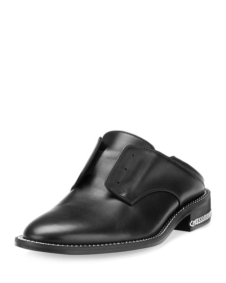 Laceless Oxford Mule Slide, Black