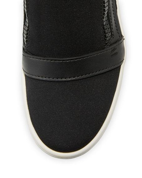 Soma Hidden-Wedge High-Top Sneaker, Black