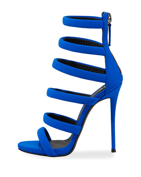 Alien Fabric Strappy 115mm Sandal, Electric Blue