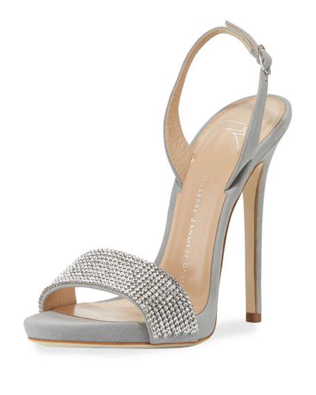 Giuseppe Zanotti Coline Crystal Slingback Sandal