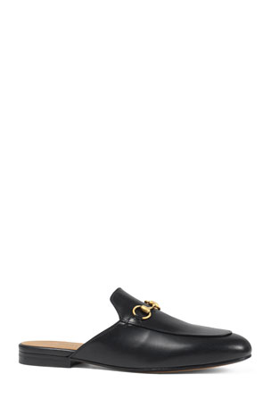 Gucci Princetown Leather Mules