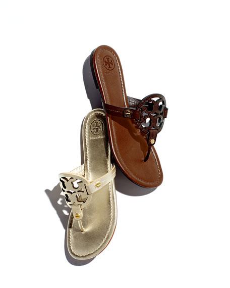 3f68a01b7a57e3 Tory Burch Miller Logo Flat Sandal