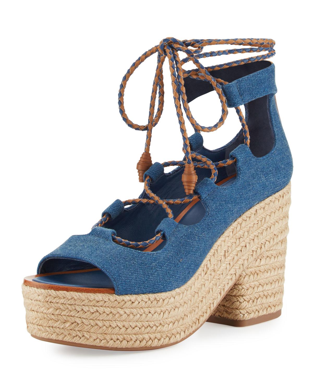 6061d8180e6a Tory Burch Positano Lace-Up Espadrille Sandal