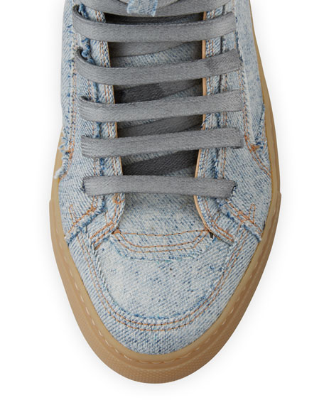 Denim High-Top Sneaker, Light Blue