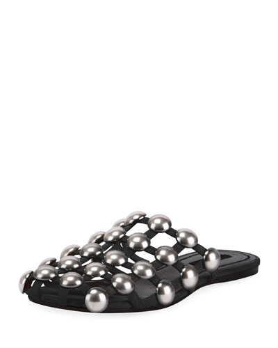 Amelia Studded Caged Suede Mules