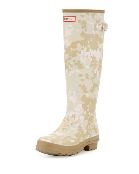 Hunter Boot Original Tall Flectarn Camouflage Rain Boot,