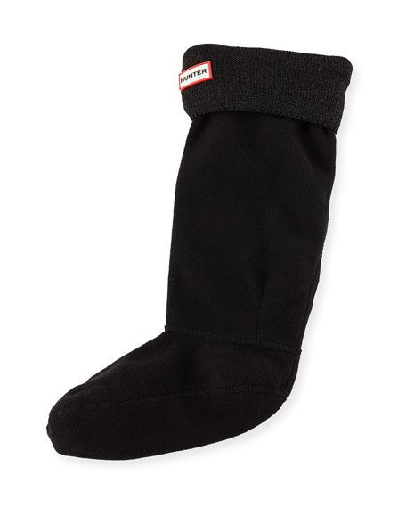 Hunter Boot Glitter Cuff Boot Sock, Black