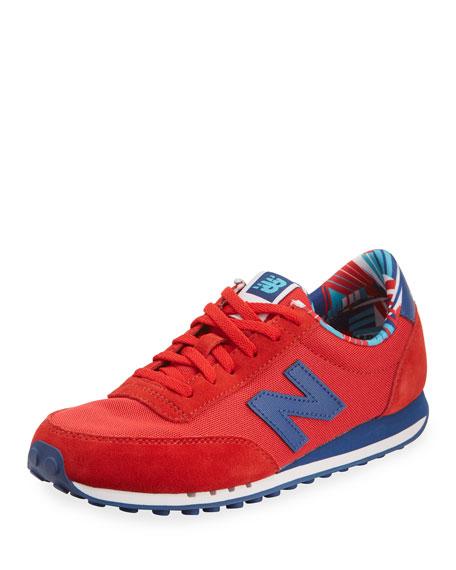 410 Mesh Low-Top Sneaker, Red