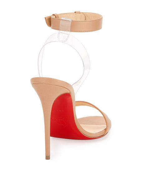 Jonatina Illusion Red Sole Sandal, Beige