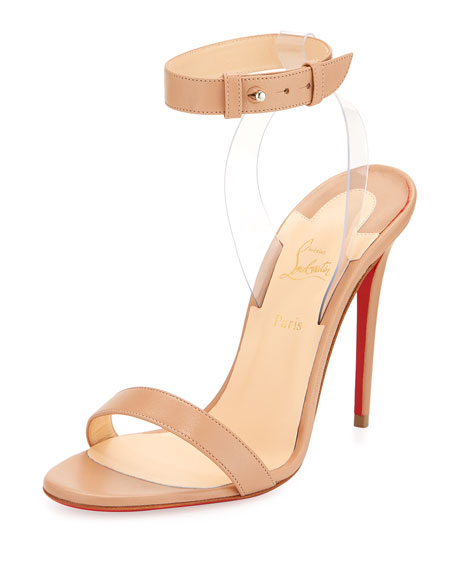 Christian Louboutin Jonatina Illusion Red Sole Sandal, Beige